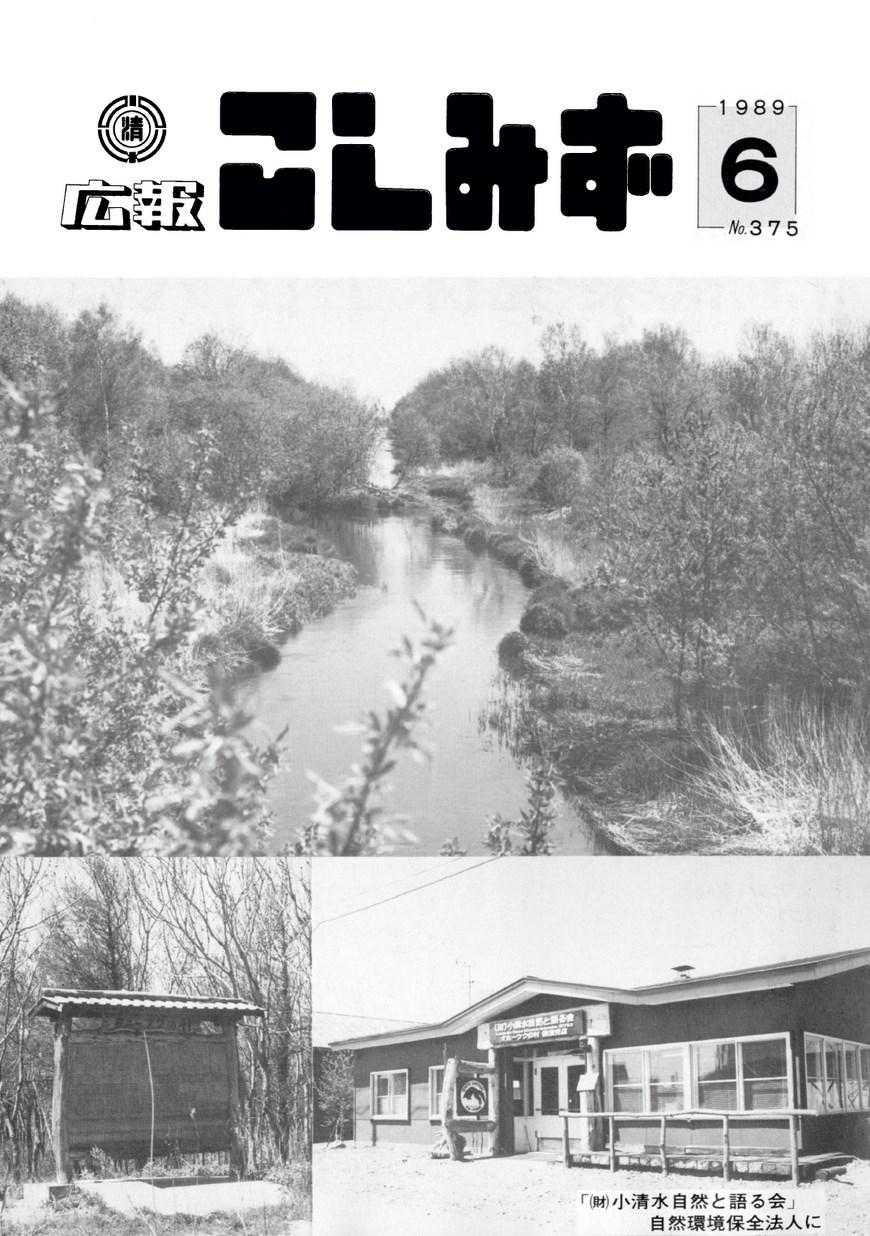 広報こしみず平成元年6月号の表紙画像
